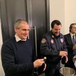 Grimoldi: Un bel momento a Milano con Matteo Salvini e Attilio Fontana al brindisi Natalizio organizzato dalla segreteria Lega di Milano