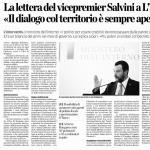 Grimoldi: Grazie a Matteo Salvini per aver scelto di scrivere una lettera a quattro quotidiani locali lombardi